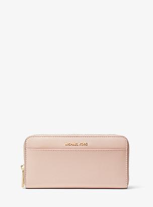 MICHAEL Michael Kors MK Crossgrain Leather Continental Wallet - Soft Pink - Michael Kors