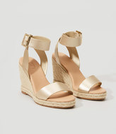LOFT Metallic Espadrille Wedge Sandals
