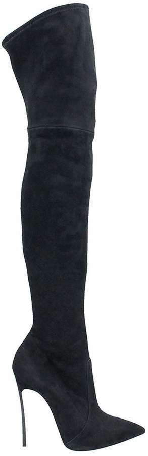 Casadei Black Over The Knee Boot