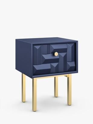 John Lewis & Partners Show Wood Storage Bedside Table