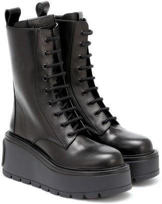 Valentino Uniqueform leather combat boots