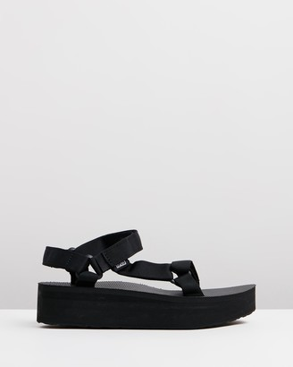 Teva Women's Black Flat Sandals - Flatform Universal Womens - Size 6 at The Iconic
