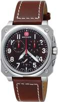 Wenger Men's AeroGraph Cockpit Chrono 77014 Leather Swiss Quartz Watch with Dial