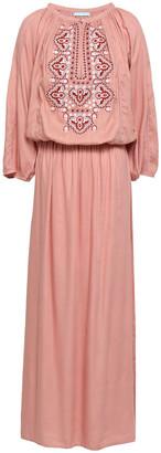 Melissa Odabash Sienna Embroidered Woven Maxi Dress