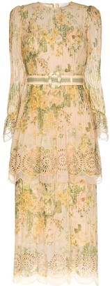 Zimmermann Amelie pintuck midi dress