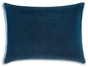 Vera Wang Blurr Velvet Fringed Decorative Pillow, 15 x 20