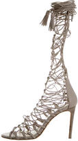 Roberto Cavalli Leather Gladiator Sandals