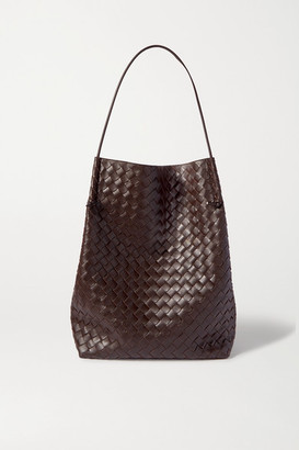 Bottega Veneta Knot Medium Intrecciato Leather Tote - Dark brown