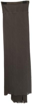 Rick Owens Ecru Silk Skirt for Women