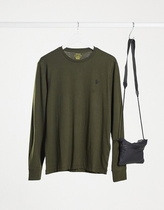 Polo Ralph Lauren player logo long sleeve T-shirt in olive