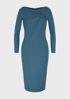 Emporio Armani Milano Stitch Dress With Front Knot