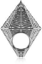 Vojd Studios Umbala Hexagonal Sterling Silver Ring