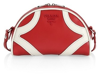 Prada Leather Crossbody Bowling Bag