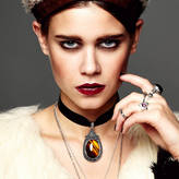 N. ROCK 'N ROSE Maya Velvet Choker Gemstone Necklace
