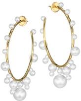 Ippolita Nova 18K Yellow Gold & 3.5MM-9MM Pearl Hoop Earrings