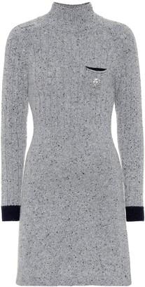 ALEXACHUNG Wool-blend minidress