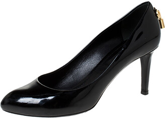 Louis Vuitton Black Patent Leather Oh Really! Pumps Size 36