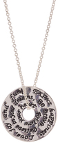 Silvertone Horse 'Expect Happiness' Pendant Necklace