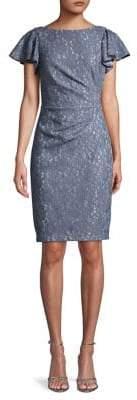 Eliza J Floral Lace Mini Dress