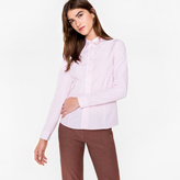 Paul Smith Women's White And Pink Striped Cotton Shirt