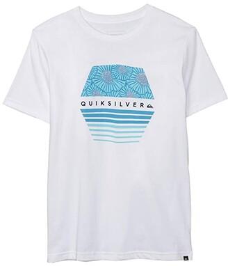 Quiksilver X Flow (Big Kids) (White) Boy's T Shirt