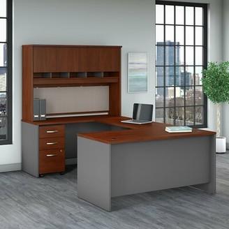 Bush Business Furniture Series C Reversible U Shape Executive Desk with Hutch