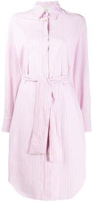 Forte Forte Belted Striped Shirt Dress