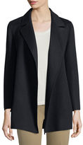 Theory Clairene Open-Front Wool-Blend Coat