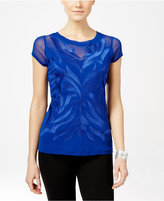 INC International Concepts Embroidered Illusion Top, Only at Macy's