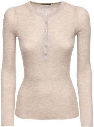 Gabriela Hearst Buttoned Cashmere & Silk Knit Top