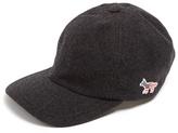 MAISON KITSUNÉ Fox-embroidered wool-blend cap