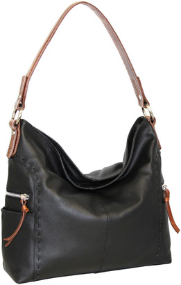 Nino Bossi Handbags Women's Hobos Black - Black Leather Kyah Hobo Bag