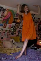 Urban Renewal Vintage Remnants Tie-Shoulder Babydoll Dress