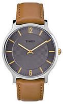Timex Men's Metropolitan Brown Leather Strap Analog Watch