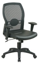 Hathcock Ergonomic Mesh Task Chair Symple Stuff Upholstery Color: Leather