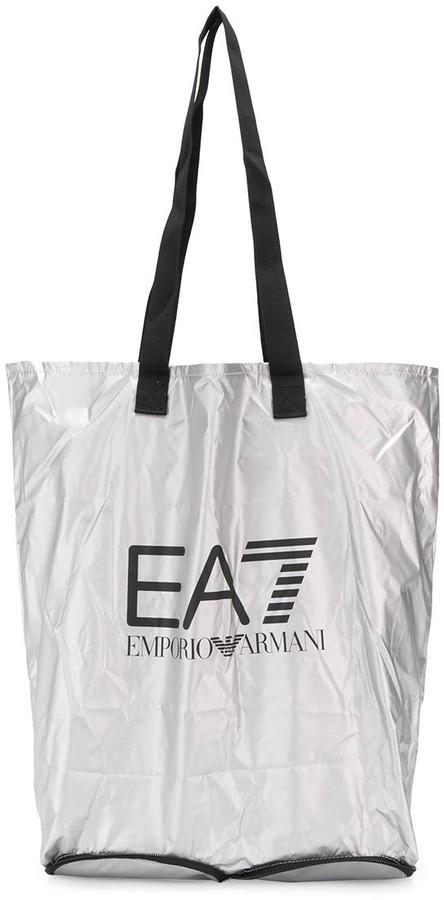 62ee818818 Ea7 logo shopping bag