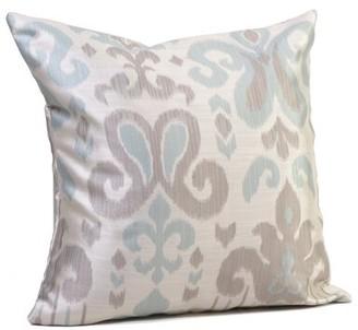"Rennie & Rose Design Group Madrid Throw Pillow & Rose Design Group Size: 17"" H x 17"" W x 4"" D, Color: Blue"