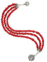 American West Sterling 3-Strand Red Coral Bead Bracelet