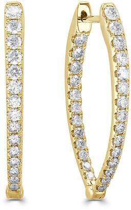 Sabrina Designs 14K 1.11 Ct. Tw. Diamond Oval Hoops
