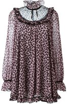 Giamba bow print tunic dress - women - Polyamide/Polyester - 42