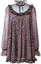 Giamba bow print tunic dress - women - Polyester/Polyamide - 42