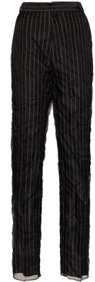 Y/Project Stripe Overlay High-Rise Trousers