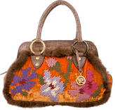 Blumarine Embroidered Handle Bag