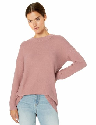 Daily Ritual Women's Wool Blend Baksetweave Crewneck Sweater