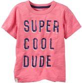 "Carter's Boys 4-8 Short Sleeve ""Super Cool Dude"" Pocket Tee"