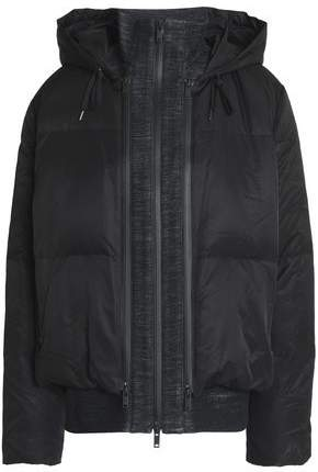 DKNY Quilted Shell Hooded Down Jacket