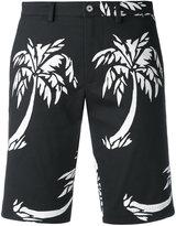 Dolce & Gabbana palm print shorts - women - Cotton/Spandex/Elastane - 46