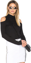 Lanston Cold Shoulder Turtleneck Top