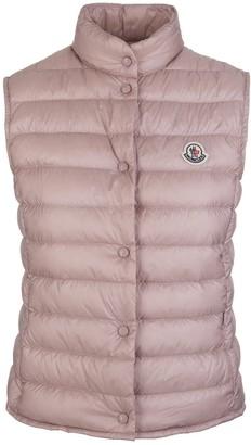 Moncler Light Pink Feather Down Sleeveless Women Padded Jacket