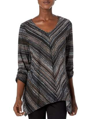 Amy Byer Women's Vneck Cinched Top